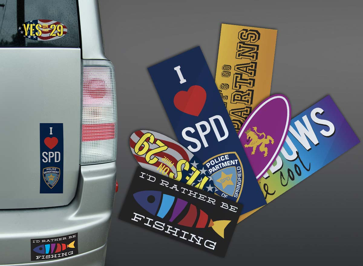Packaging & Stickers Printing - Bumper Stickers